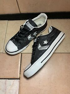 01ee1cc217fd Converse Star Player EV OX Black/Grey Glitter Trainer Shoes 519075F ...