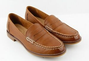 Womens Sperry Top-Sider Seaport Penny Loafer - Tan Leather ...