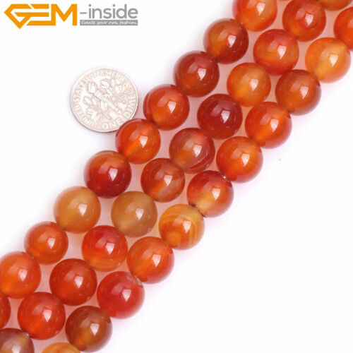 """Natural Round Red Carnelian Beads For Jewelry Making Strand 15/"""" 2mm Big Hole DIY"""