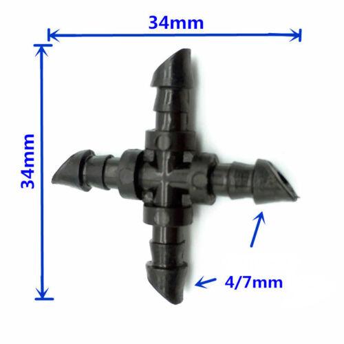 8x Cruz para microtubo de 4 mm tubo tuberia goteo 8 piezas Micro riego