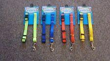 Adjustable Dog Collar And Lead Set Nylon Fabric 1m Pet Walking Puppy Leash Walk