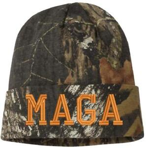 MAGA - Make America Great Again Knit Camo Winter Hat - Various ... d19049238d4