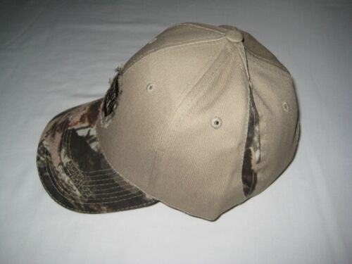 NAPA Beige//Camo Hat by Advantage Timber Adjustable Sizing
