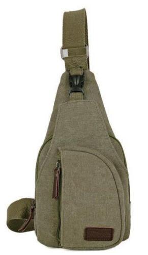 Quality Men Canvas Vintage Messenger Shoulder Chest Bag Military Sling Travel