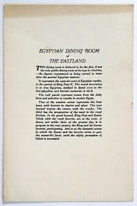 1940 Vintage Menu EGYPTIAN DINING ROOM - THE EASTLAND HOTEL Portland Maine