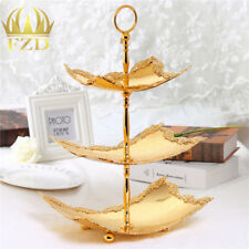 3 tier gold serving trays server tray cake candies dessert fruit display stand