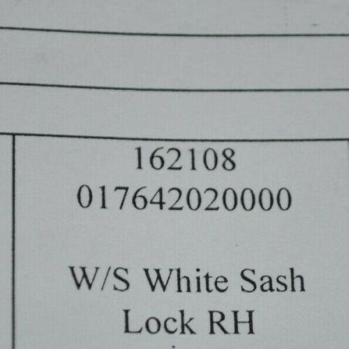 NEW Vetter 820 Casement Window RH White Sash Lock Part# 162108