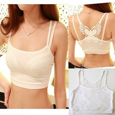 Sexy Womens Butterfly Bra Bandage Wrapped Chest Club Shirt Tank Crop Top Blouse