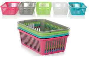 NEW-PLASTIC-HANDY-BASKETS-ORGANIZER-STORAGE-TIDY-FOR-SCHOOLS-OFFICES-ITEM-CHOICE