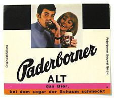 Paderborner Brauerei GmbH PADERBOURNER ALT beer label GERMANY