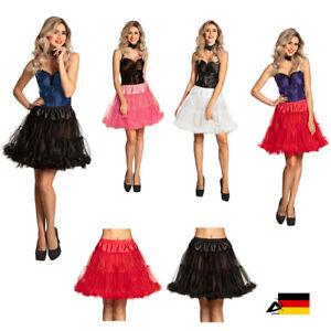 Petticoat Tüll Rock Unter Rock Rockabilly Tütü Fasching Kostüm Karneval Minirock