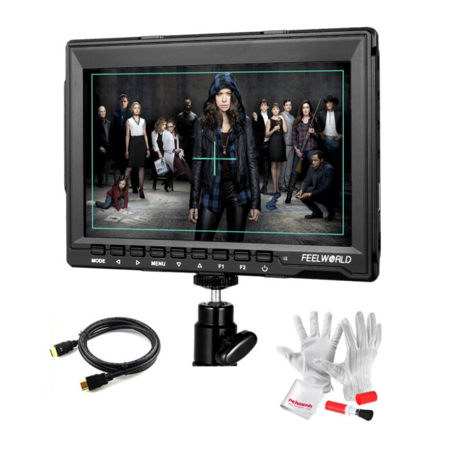 "Feelworld 7"" FW759 LCD Video Monitor 1280x800 HDMI Display for DSLR Camera+Gift"