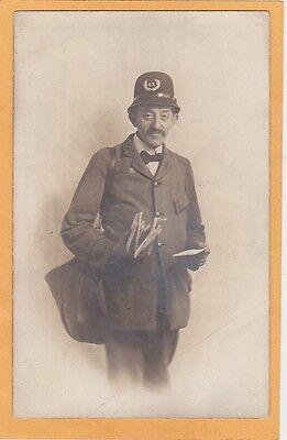 Real Photo Postcard RPPC - Occupation - Mailman