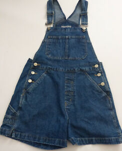 Women-039-s-GH-Bass-Co-Bib-Shortalls-Small-Blue-Denim-Jean-Shorts-Overalls-Festival