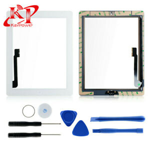 New-White-Glass-Touch-Screen-Digitizer-Replacement-Home-Button-For-iPad-3-4