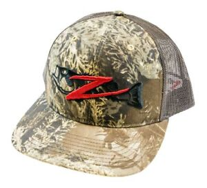 Z-Man Structured Trucker Hat Adjustable Rear Closure Fishing Sun Protection Hat