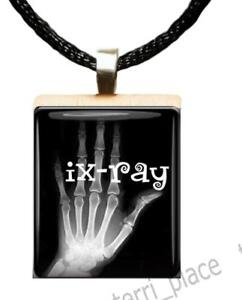 Ix ray scrabble tile pendant handcrafted medical occupation gift image is loading ix ray scrabble tile pendant handcrafted medical occupation aloadofball Image collections