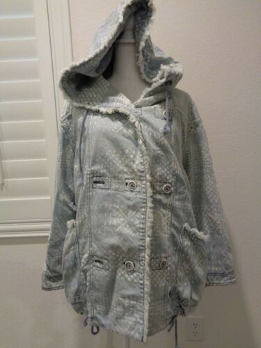Chambray Blue Jacket S Frakke People Oversized Foret Free p Hooded Denim Hw8Int