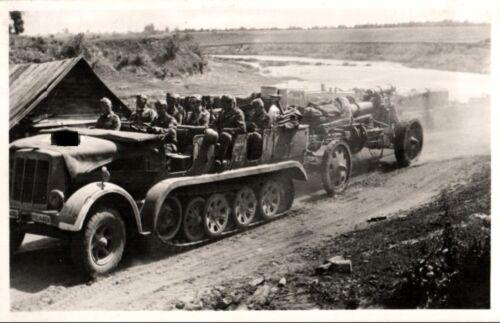 20872/ Foto AK, SdKfz, Schwere Artillerie, ca. 1941