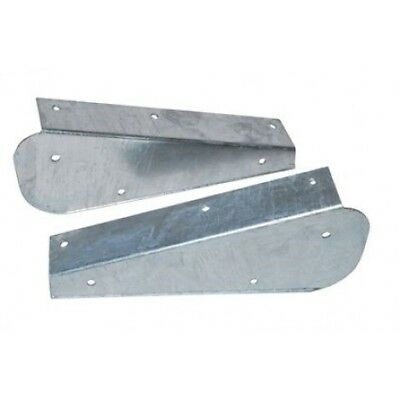 Land Rover Defender Front Mud Flap Brackets Galvanised Rust Resistant DA1188