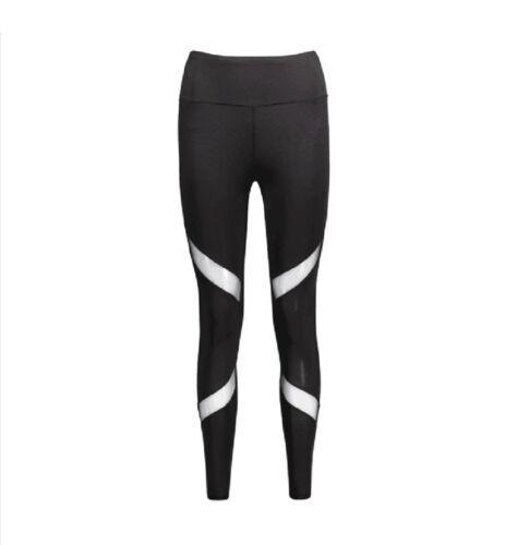 Women Gym Sport Leggings Yoga Pants Elastic Waist Breathable Athletic Sportswear