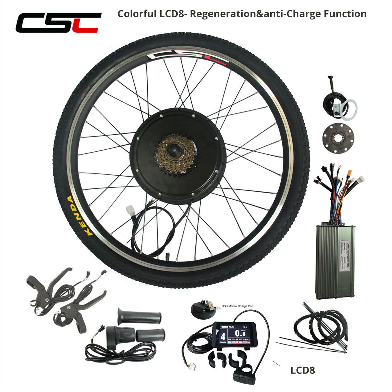 48V 500W 1500W Electric Bicycle Motor Kit  27.5  28  29  700C Cycling Motor LCD8  no.1 online