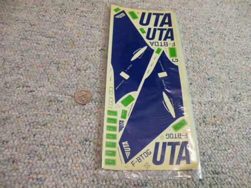 Jet Set decals 1//144 UTA Boeing 747 w// 1//100 DC-10-30 material   E79