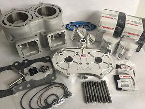 Details about Banshee 74 50mm 10 mil Super Cub Cylinder NOSS Billet Head  Big Bore Top End Kit