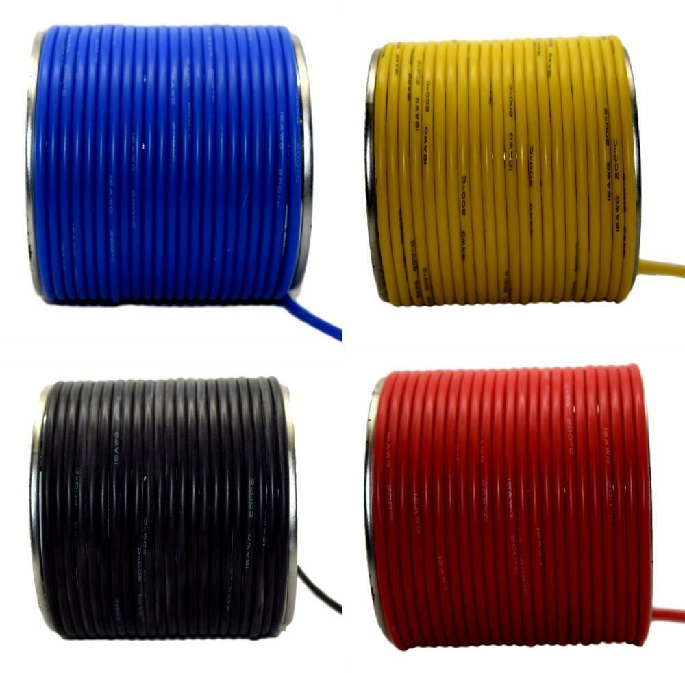 Flexible Silicone Wire Cable 8 10 12 14 16 18 20 22 24 28 30 AWG Various Colours