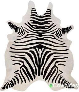 Zebra Cowhide Rug Cow Hide Area Rugs