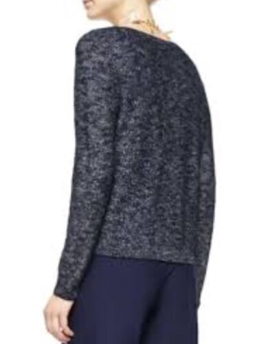 XL EILEEN FISHER DENIM KARAM JACQUARD SCOOP NECK BOX TOP NEW
