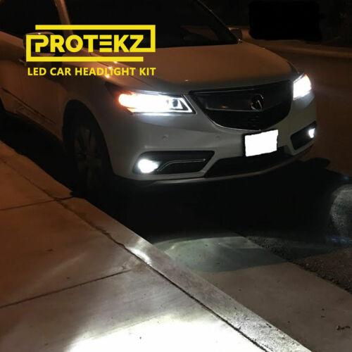Protekz 6K Wht LED Foglight Kit for 2005-2006 Mitsubishi LANCER OZ RALLY H3 Bulb