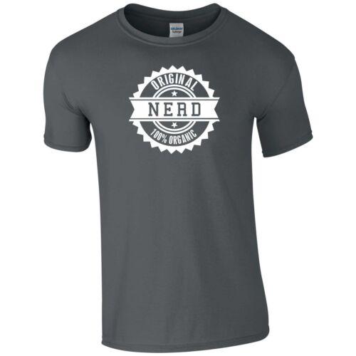 Original Nerd T Shirt 100/% Organic Dork Geek Funny Joke Theme Dress Gift Men Top