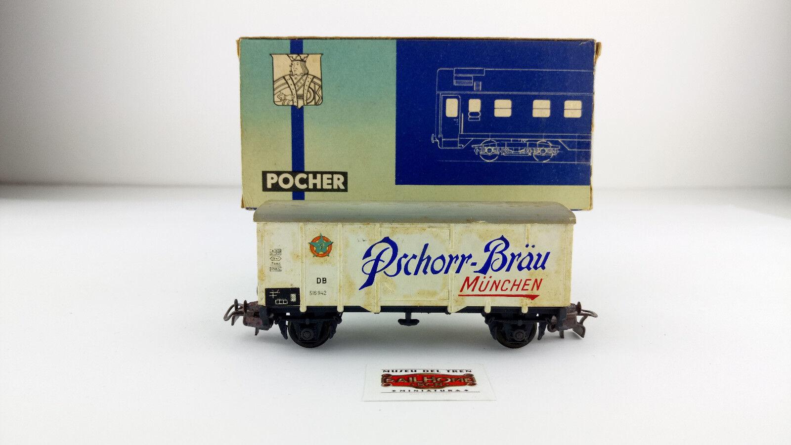 POCHER H0 324 - VAGÓN MERCANCÍAS DB  PSCHORR-BRÄU  - OVP