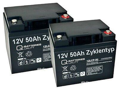 2 x AKKU BATTERIE 12V 50Ah kompatibel für ROLLSTUHL ELEKTROMOBIL SHOPRIDER #24V