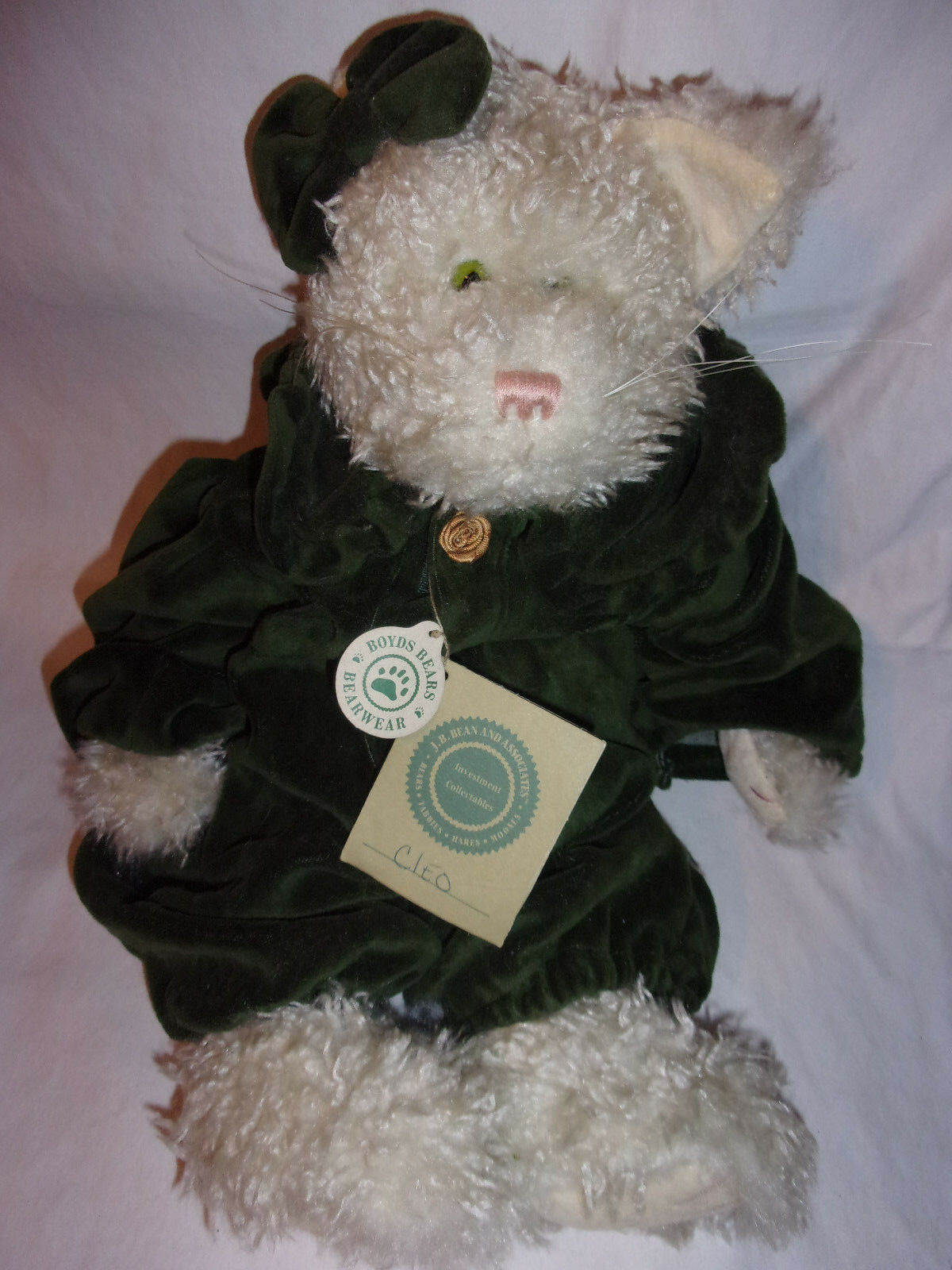 Boyds Bears & Friends Cleo White Cat 17  Victorian Plush Soft Toy Stuffed Animal