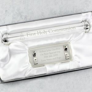 Details About Personalised Engraved First Holy Communion Certificate Holder Gift Boy Girl