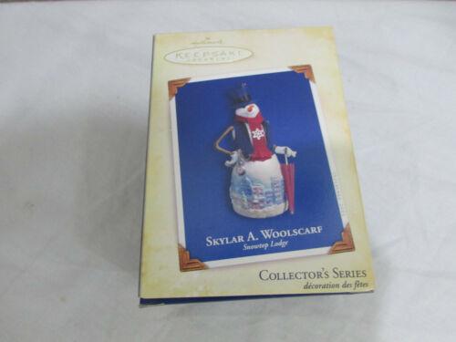 Hallmark 2005 Snowtop Lodge Collectors series Ornament Snowman SKYLAR