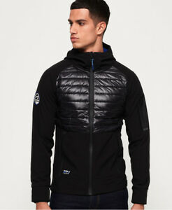 Soft Hybrid Jacket Black Mountain New Mens Superdry Shell PqFcw