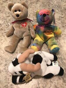 Beanie Baby Bear St Thomas Brown  Ken's Cow Lot 3