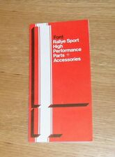 Ford Rallye Sport Performance Parts & Accessories 1970 - Escort RS1600 Mexico
