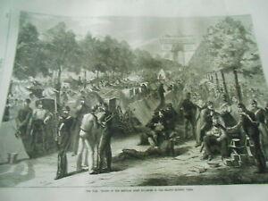 Prudent The War Troops Of The Regular Army Cheamp Elysées Gravure Antique Print 1870 Apparence éLéGante