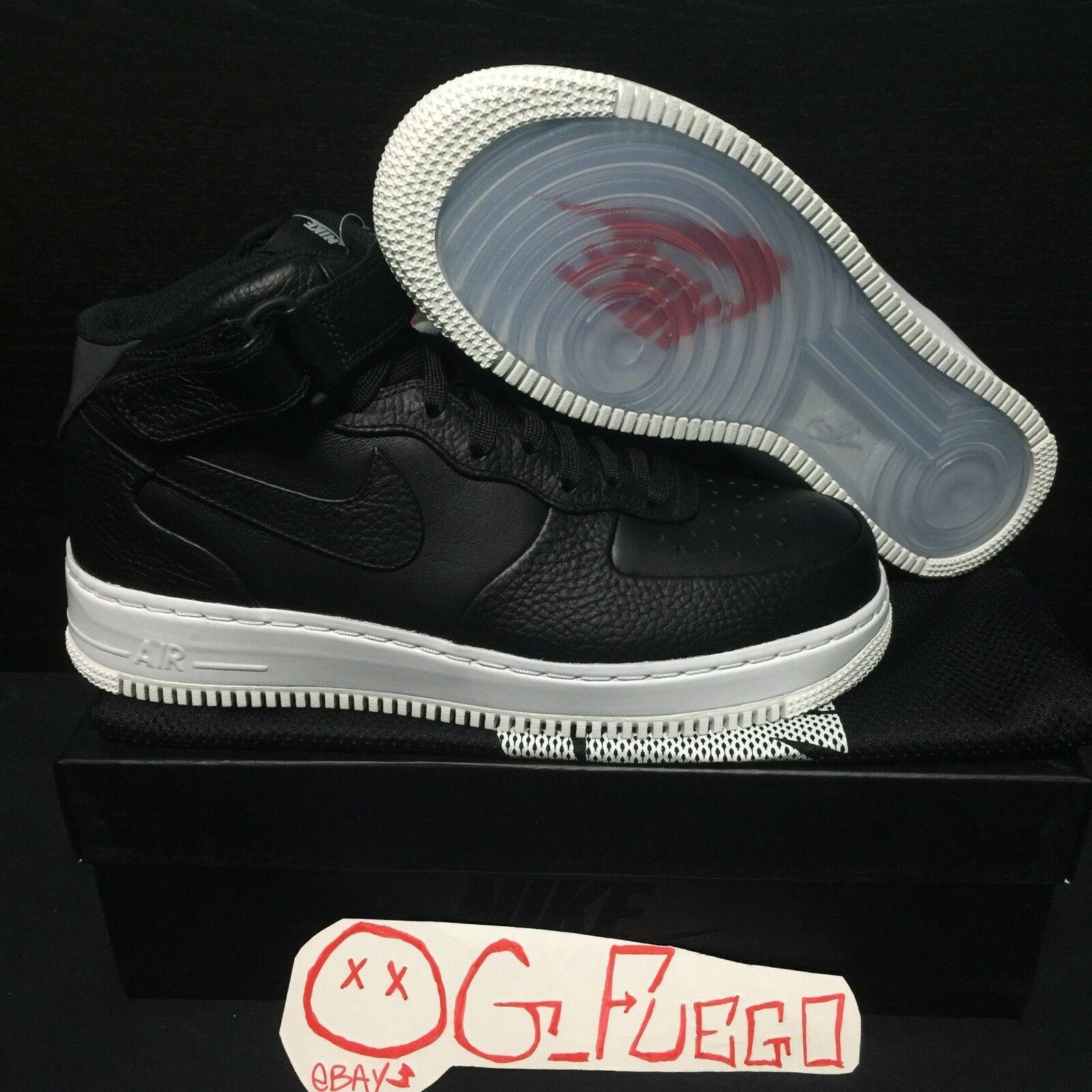 Nike Air Force 1 MID CMFT SP 718153 008 NikeLab Black Men's Size 9