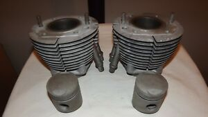 Détails sur Paire de cylindres + pistons nus BMW R50/5  Bon état, ont été  micro-billées