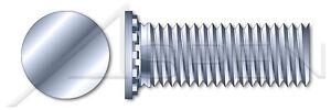 Full Thread Zinc Plated and Baked 8000 pcs Flush Head Self-Clinching Studs #8-32 X 7//8 Steel Self-Clinching Studs