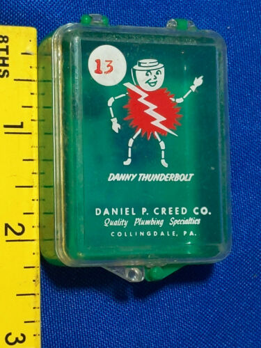 Advertising Graphics Danny Thunderbolt VTG Creed Electric Shock Guy Plumbing