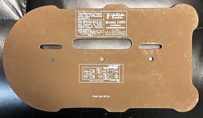Fada Bullet Streamliner #1000 REPRODUCTION back panel