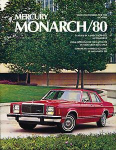 1980 Mercury Monarch Last Year Sales Brochure Original