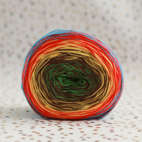 multi coloured gradient yarn cake KATIA Rainbow WENDY Evolution MONDIAL Primaver