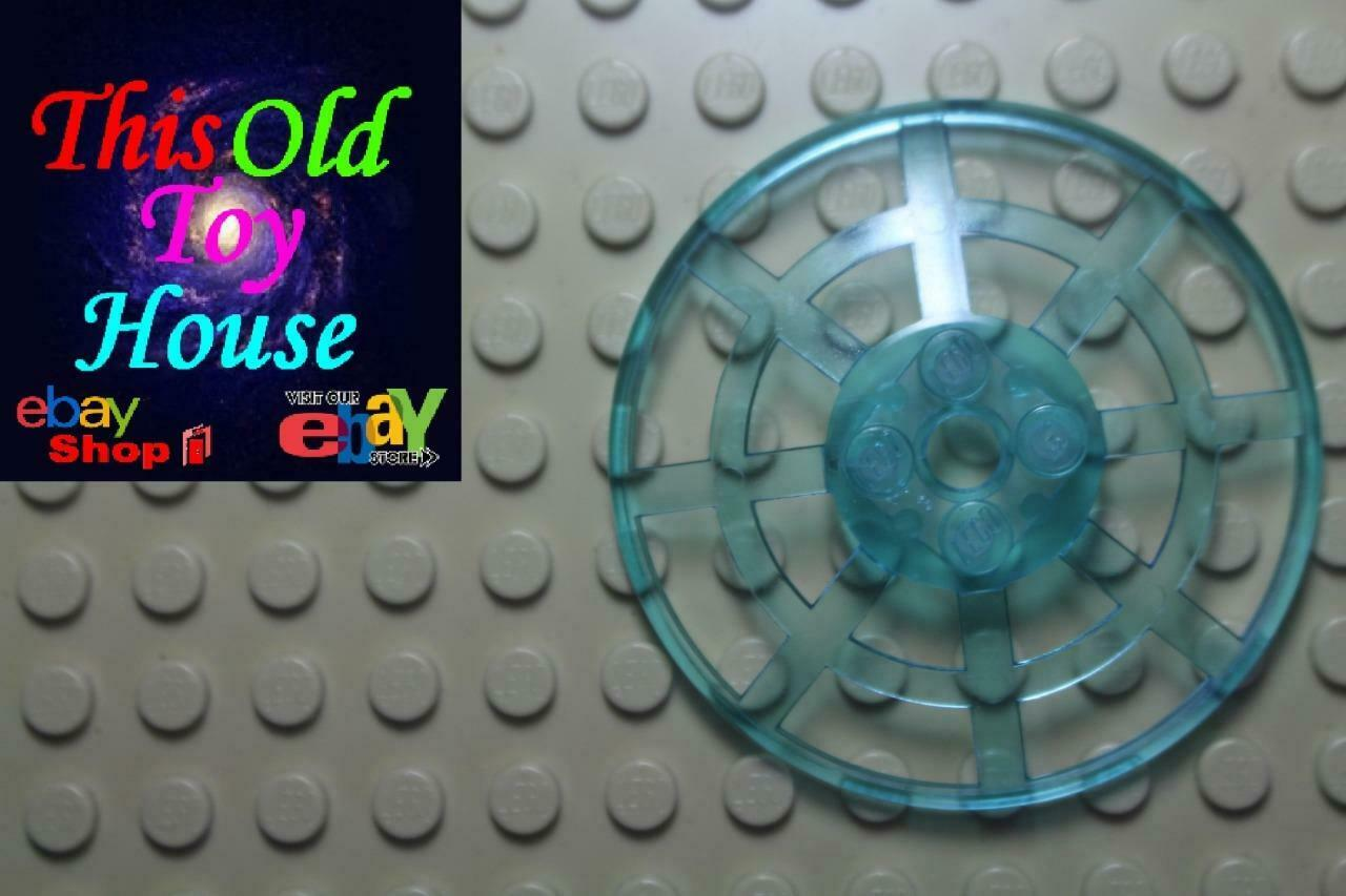 2x Dish disque radar 6x6 Lego type 2 bleu clair trans light blue 4285b NEUF